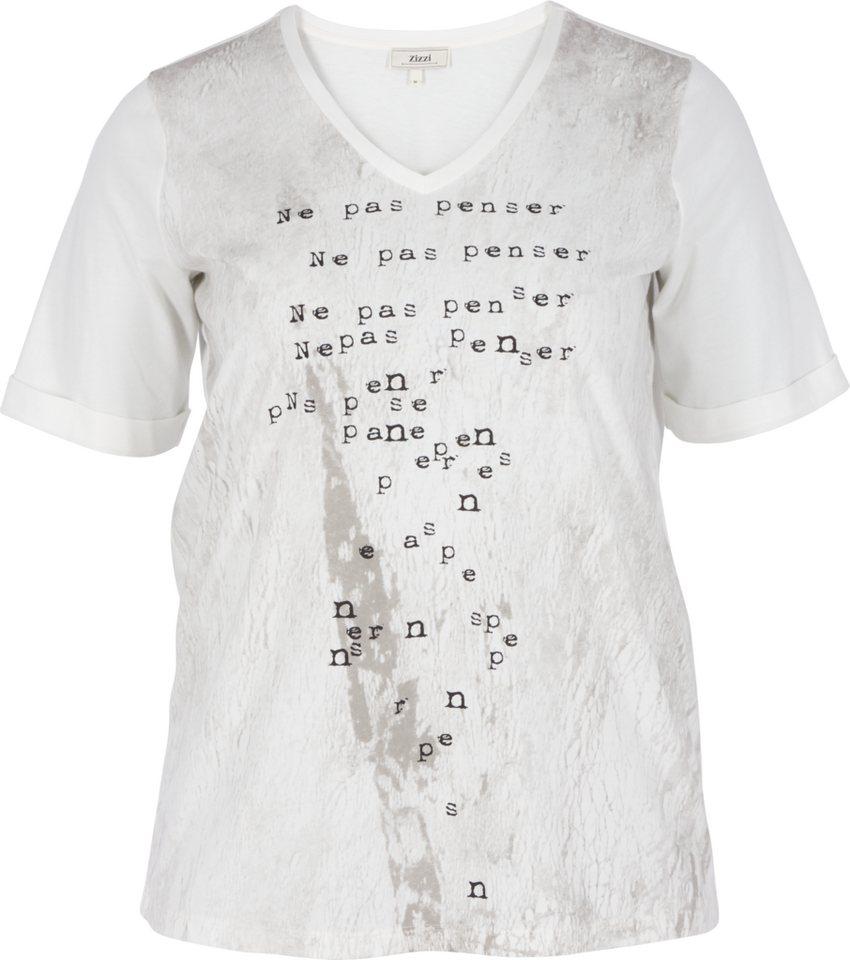 Zizzi T-Shirt in Vanilla Ice