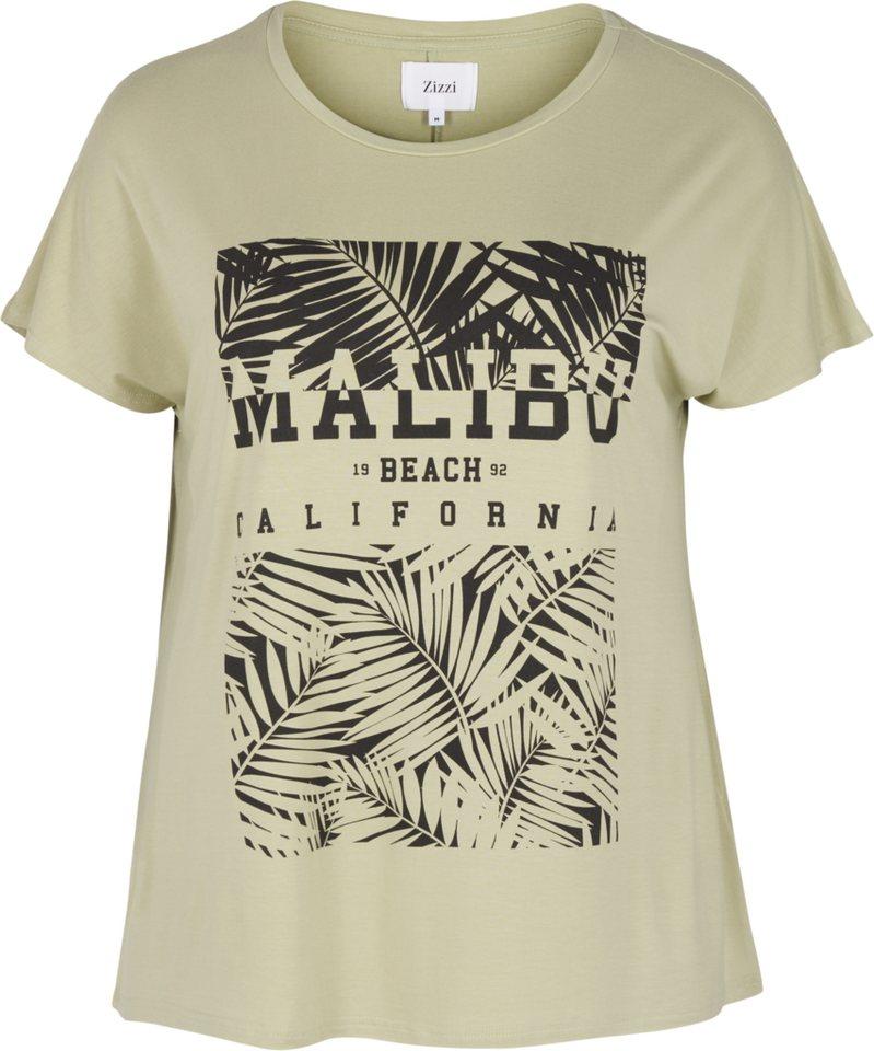Zizzi T-Shirt in Desert Sage