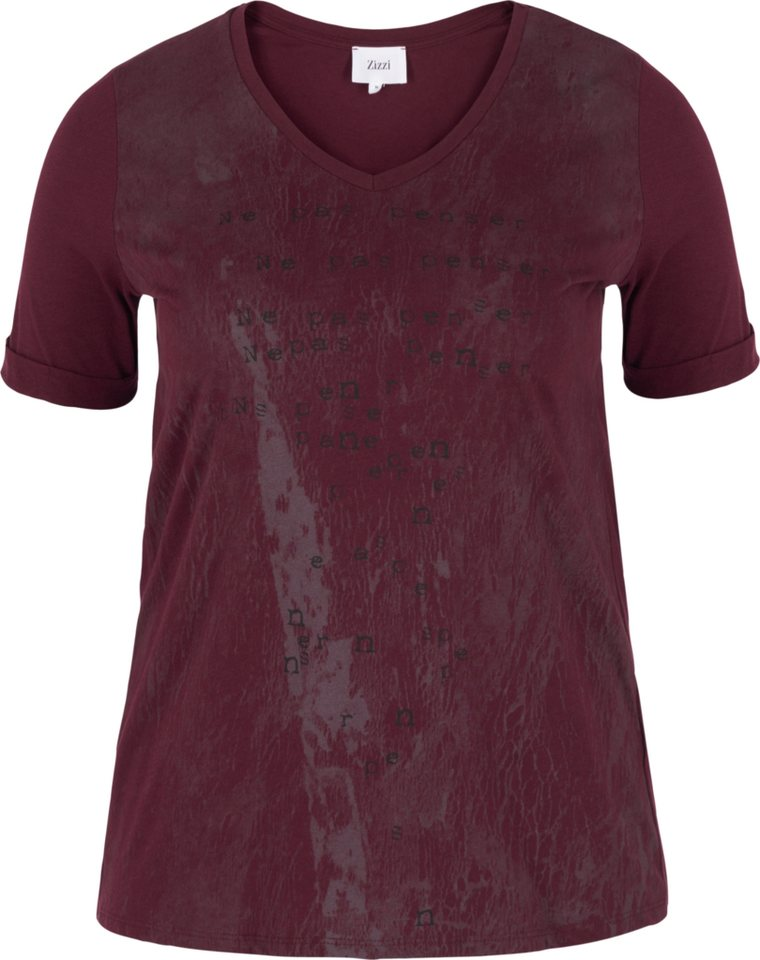 Zizzi T-Shirt in Winetasting