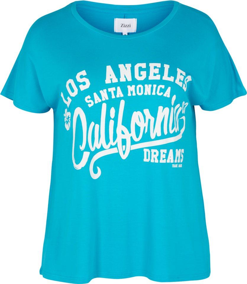 Zizzi T-Shirt in Peacock Blue
