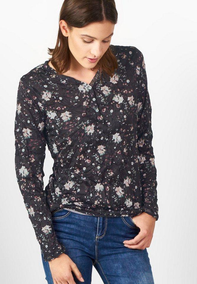 Street One Shirt mit Blütenprint Gunia in Black