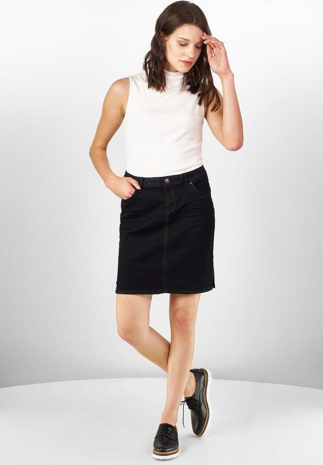 Street One Jeans-Minirock Ida in black part coating