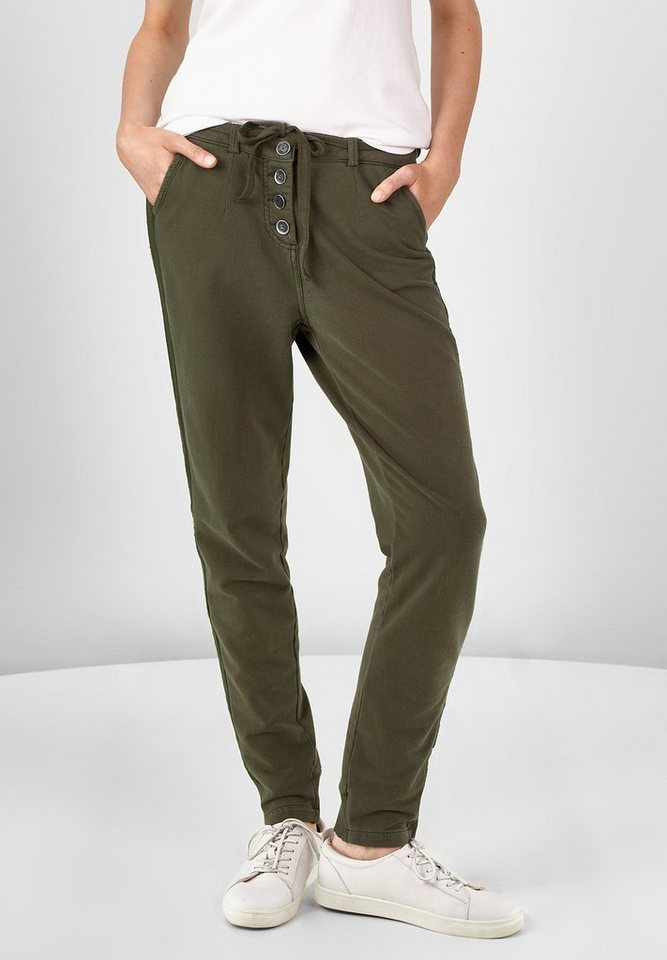 CECIL Sweat-Joggpants Chelsea in deep olive