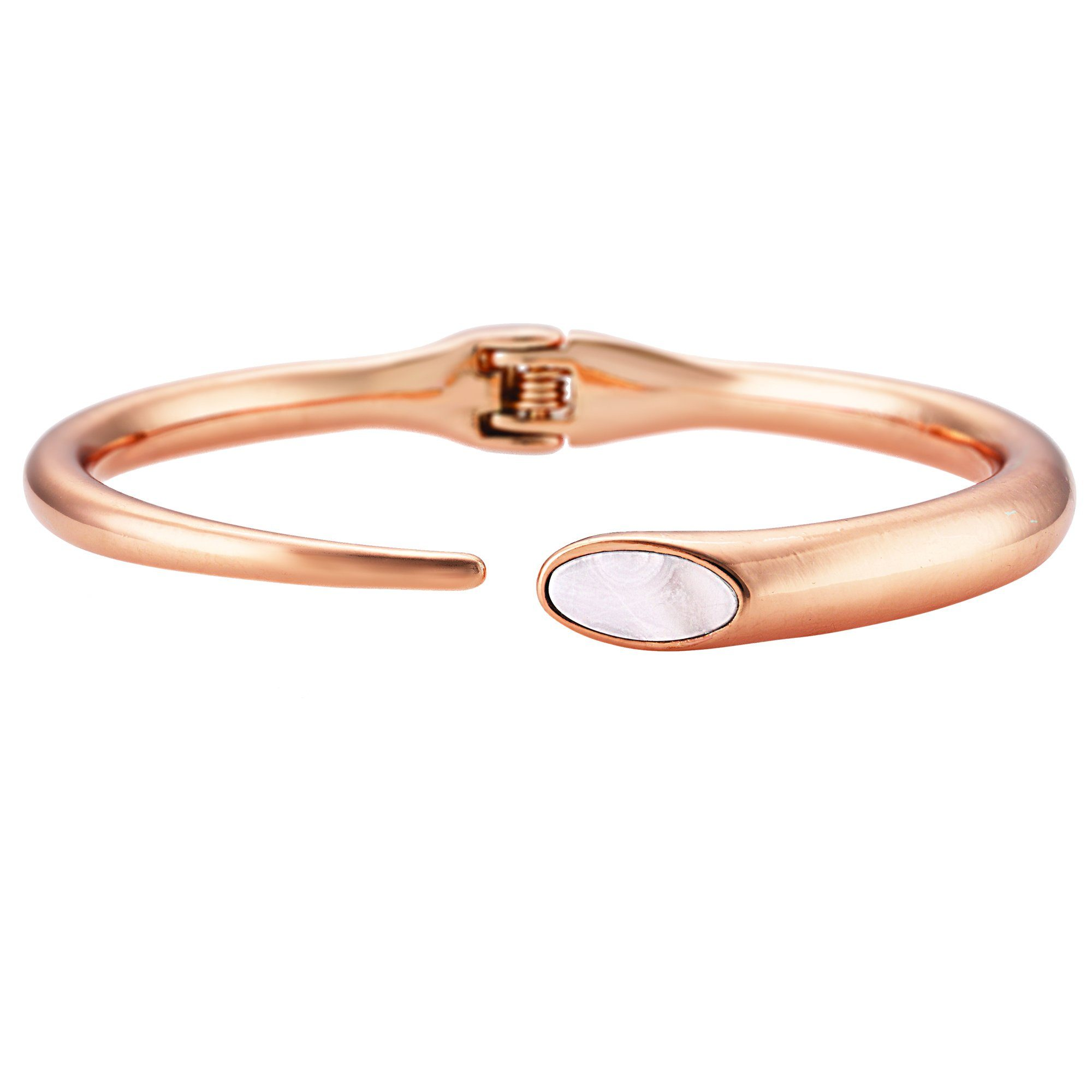 Buckley London Armschmuck Messing rosévergoldet mit Perlmutt