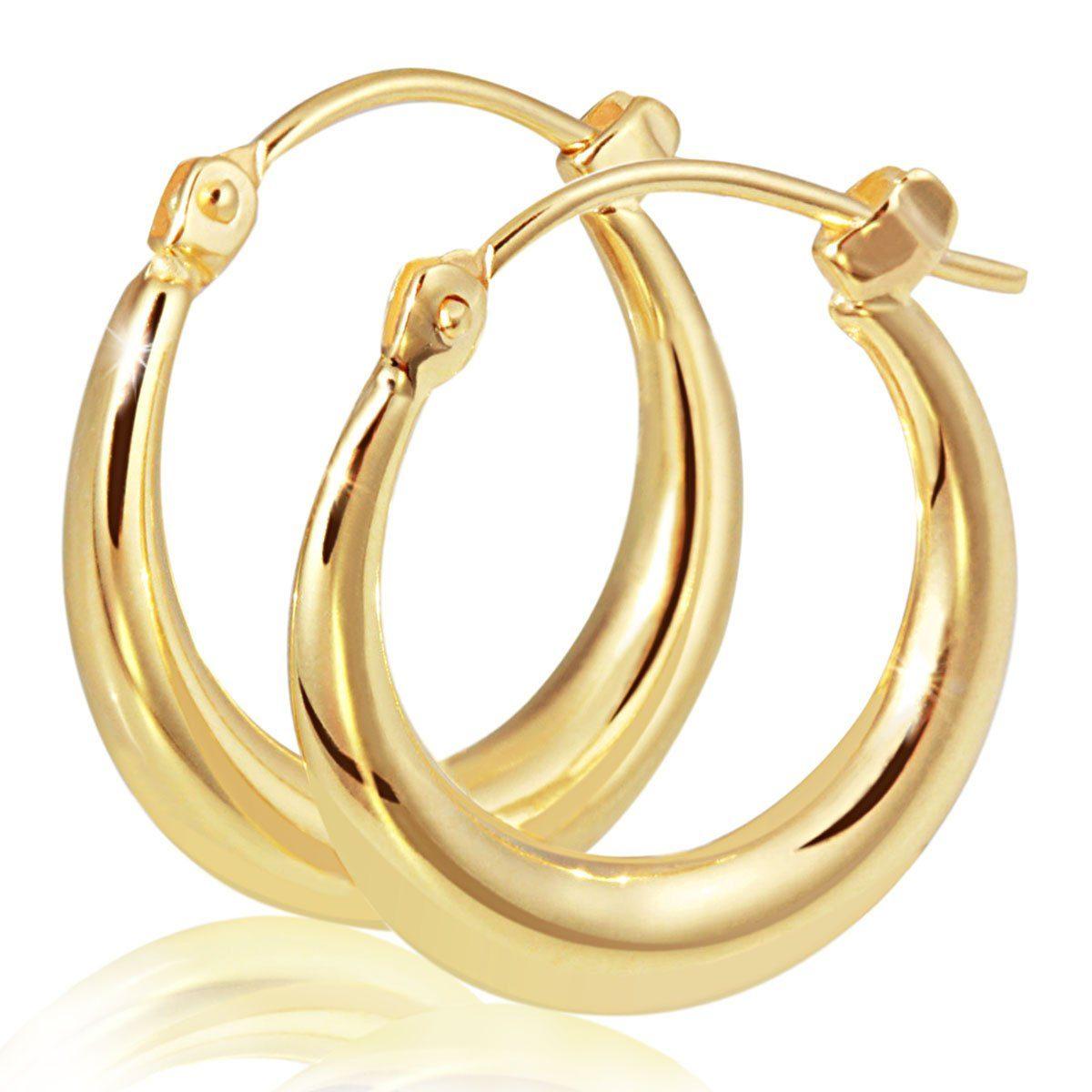 goldmaid Paar Creolen 333/- Gelbgold Hochglanz