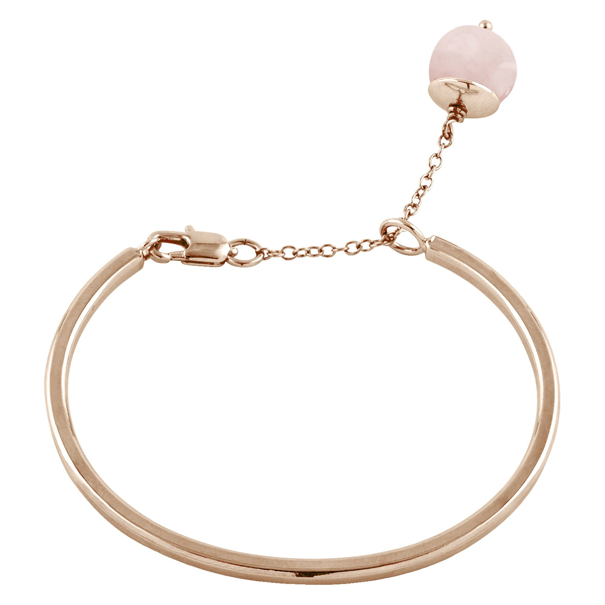 Buckley London Armschmuck »Messing rosévergoldet mit Rosenquarz«