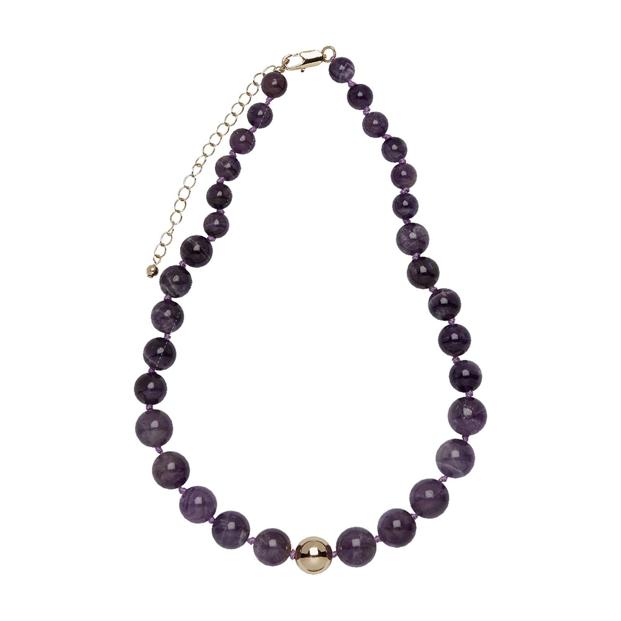 Buckley London Collier »Messing vergoldet mit Amethyst«