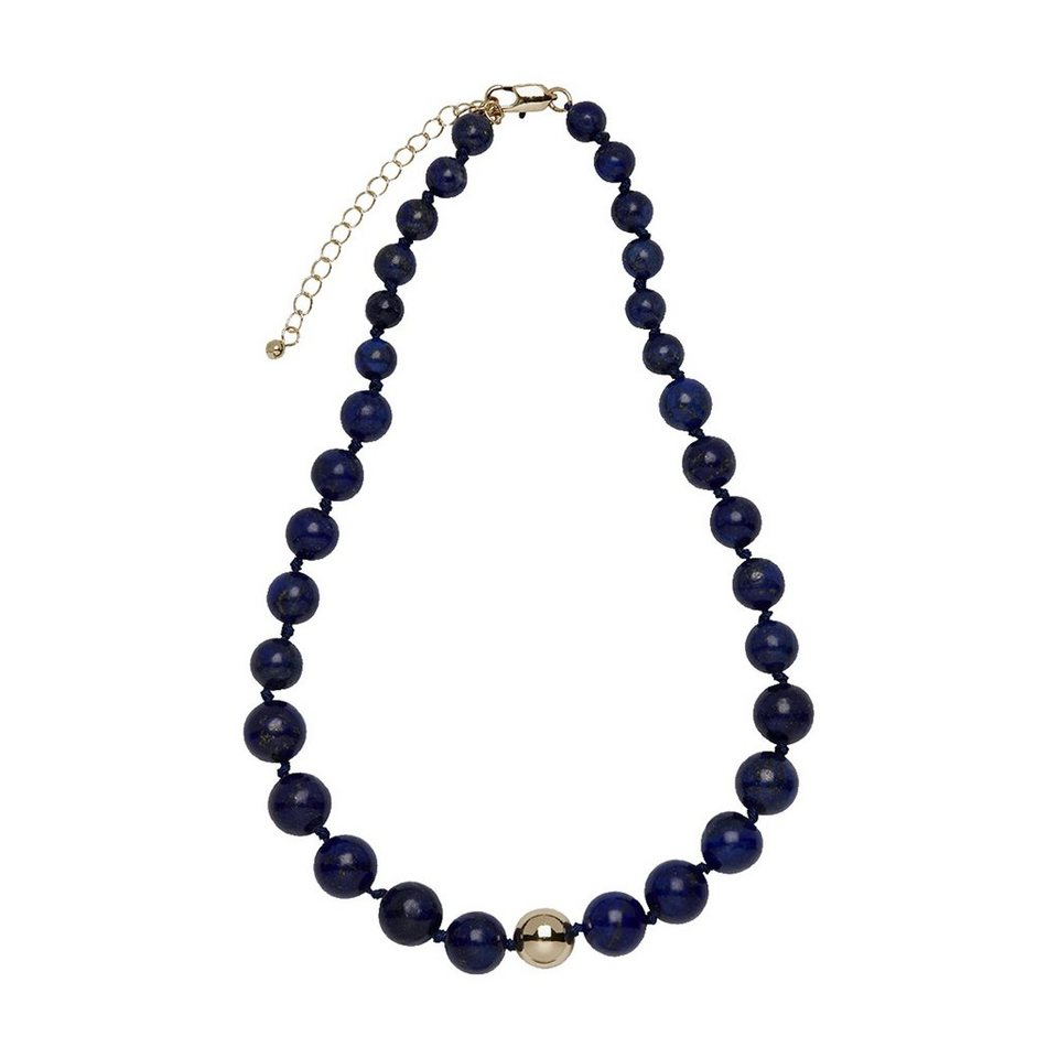 Buckley London Collier »Messing vergoldet mit Lapis« in schwarz