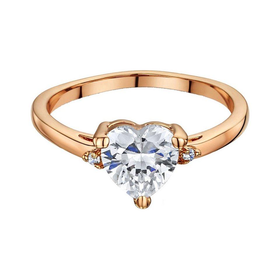 Buckley London Ring rosévergoldet mit Zirkonia in Silbergrau