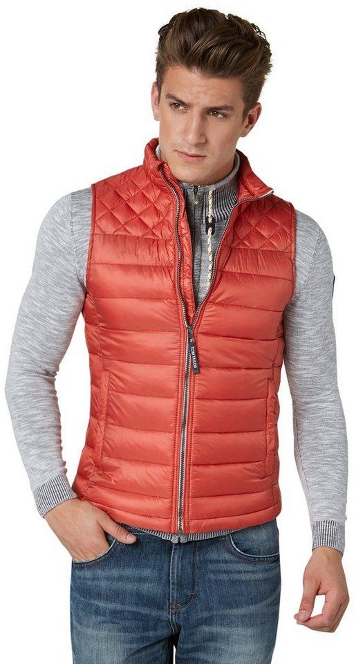 TOM TAILOR Weste »quilted vest« in sahara orange