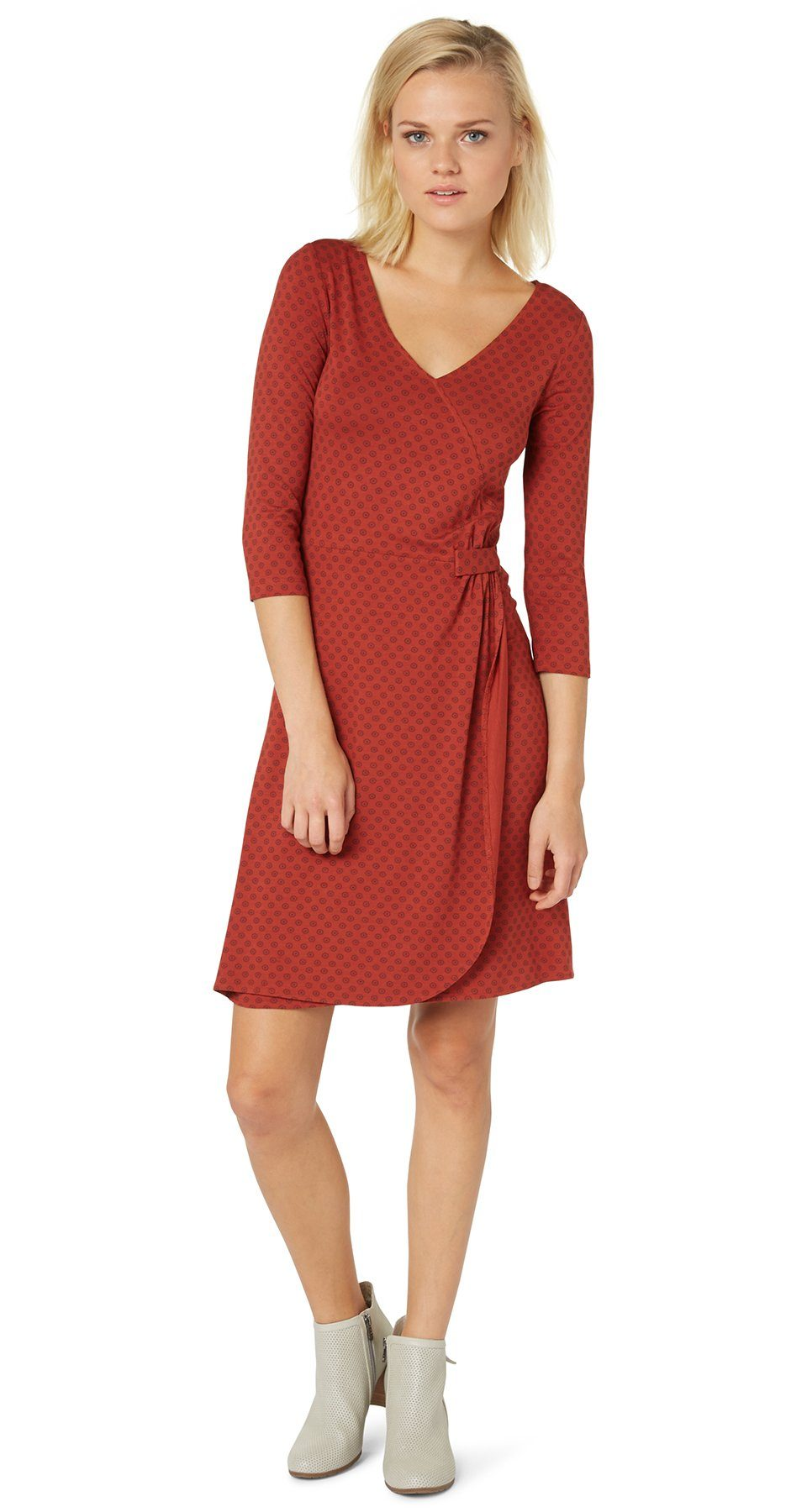 TOM TAILOR Kleid »Jersey-Kleid in Wickel-Optik«