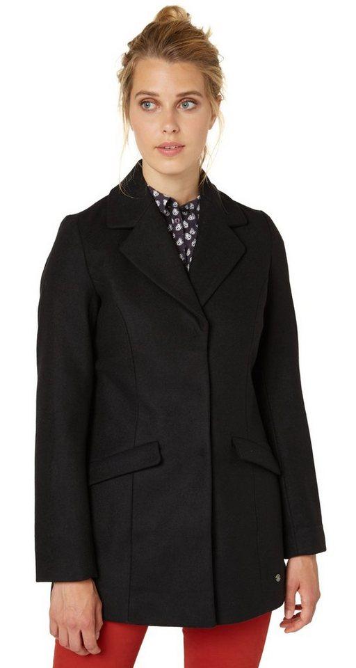 TOM TAILOR Jacke »modern wool mix coat« in black