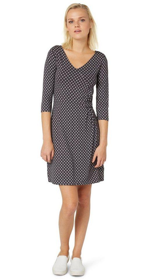 TOM TAILOR Kleid »easy wrap dress« in Coal Grey