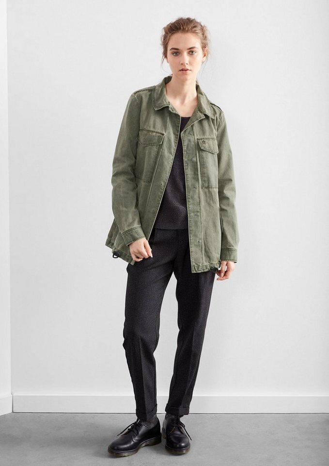Q/S designed by Parka im Military-Look in olive
