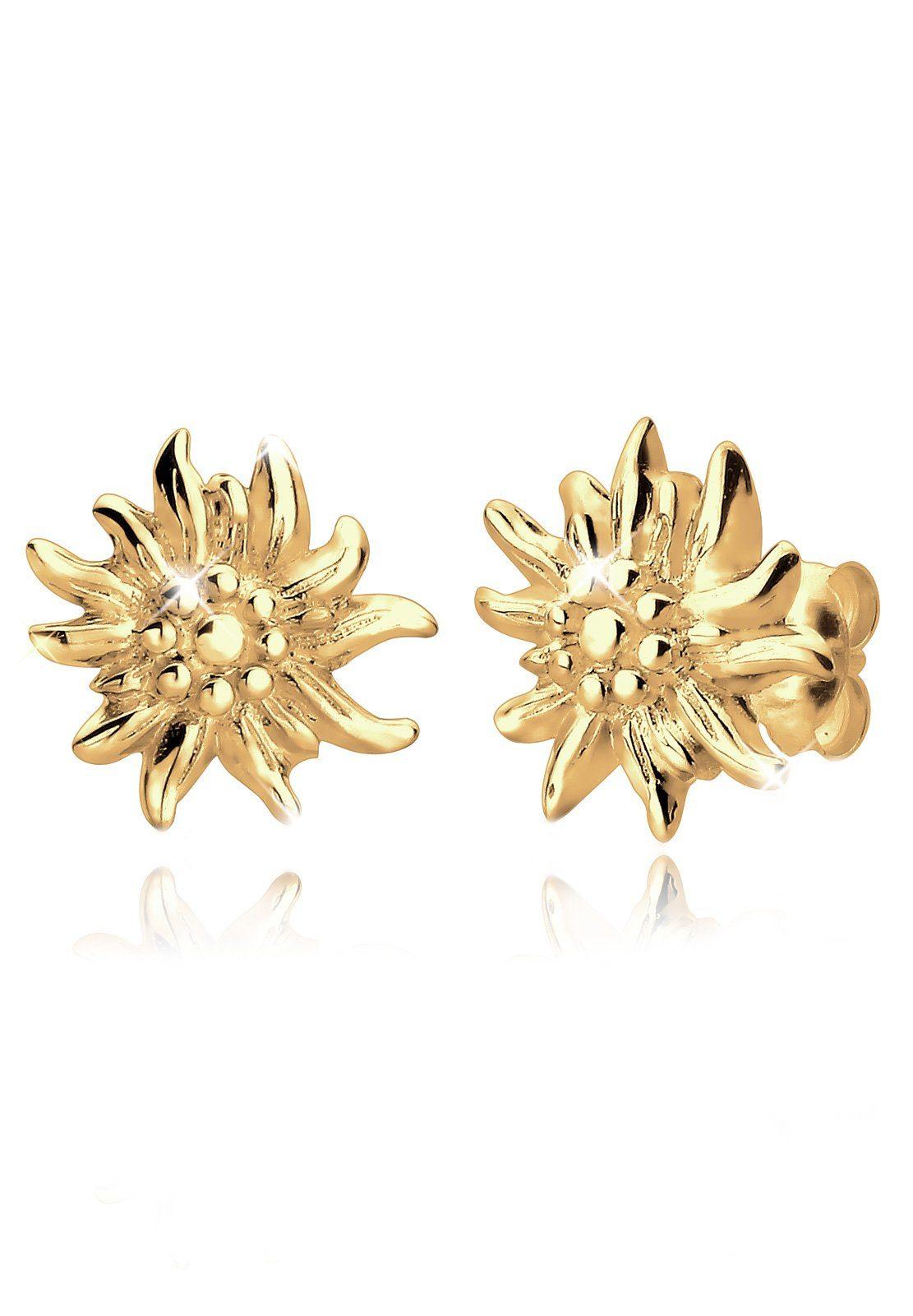 GOLDHIMMEL Ohrringe »Edelweiss Blume *WIESN SPECIAL*«