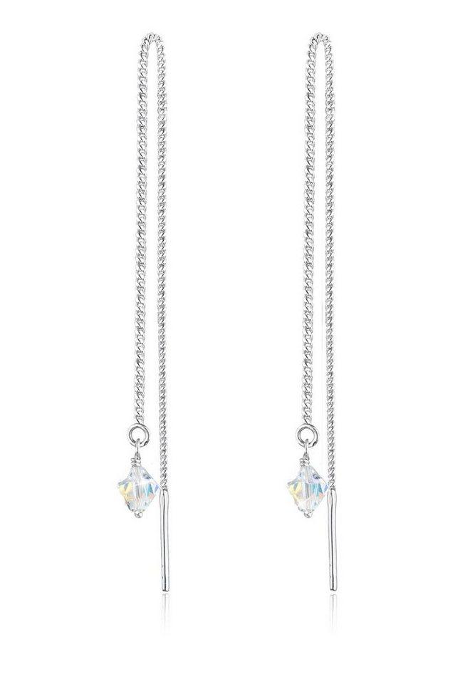 Elli Ohrringe »Swarovski® Kristalle Funkelnd Elegant 925 Silber« in Weiß