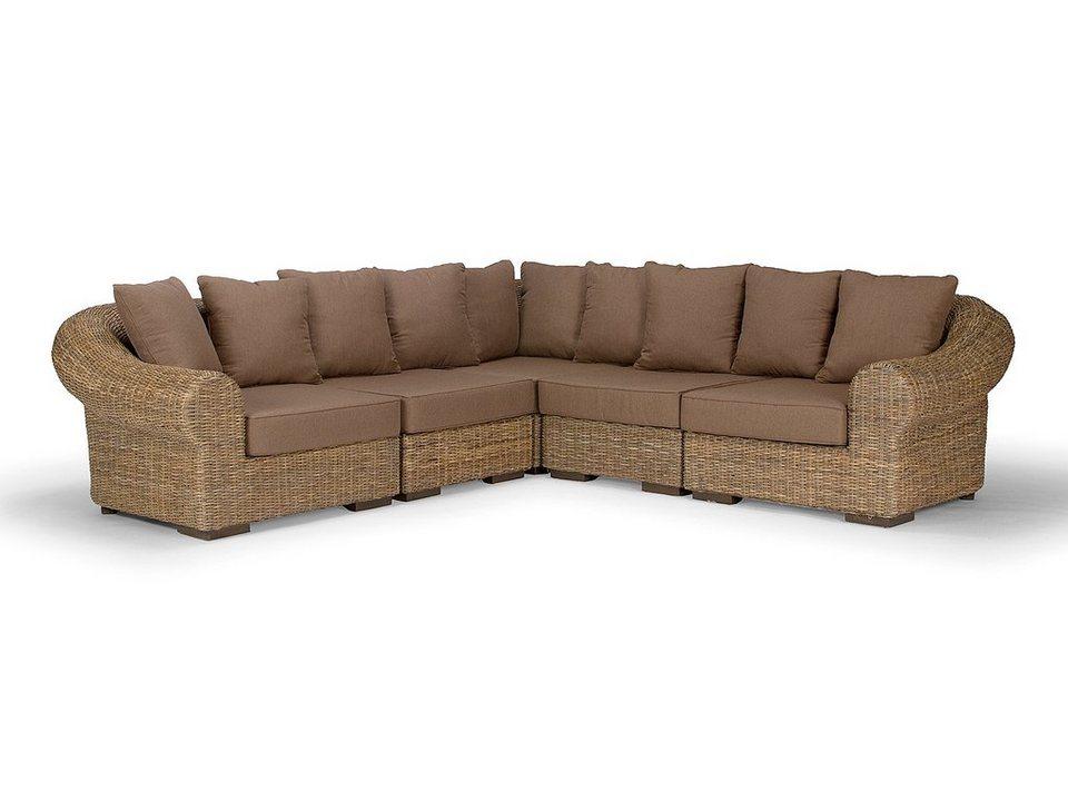 massivum Sofa aus Kubu-Rattan »Dane« in grau