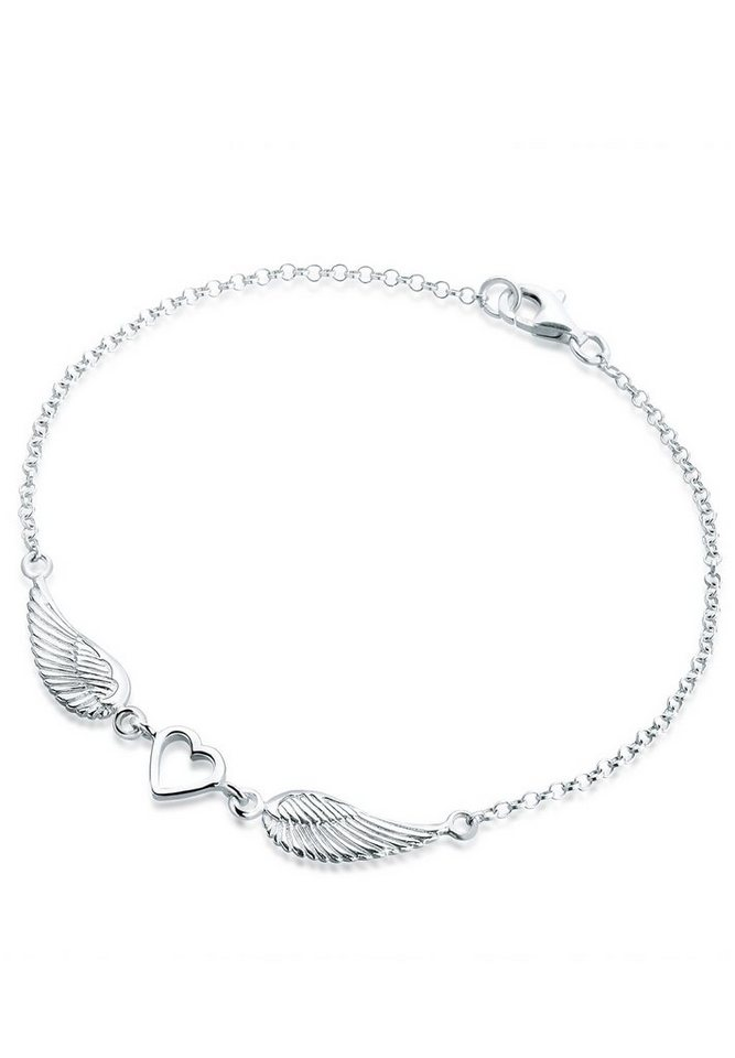 Elli Armband »Herz Flügel Silber« in Silber