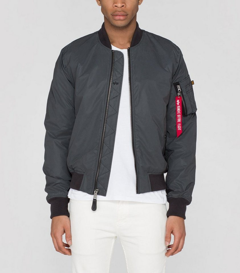 ALPHA INDUSTRIES Jacke »MA-1 VF Reflective« in anthra