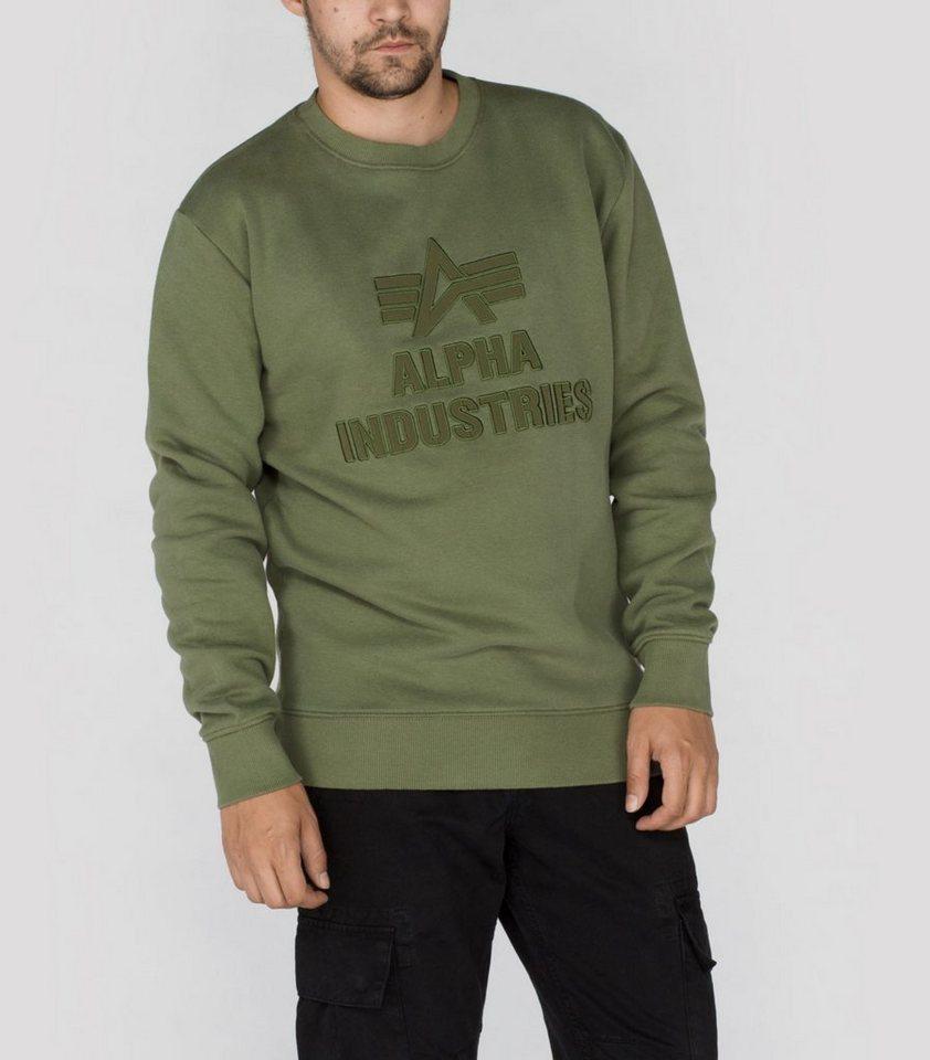 ALPHA INDUSTRIES Sweats »Application Sweater« in sage-green
