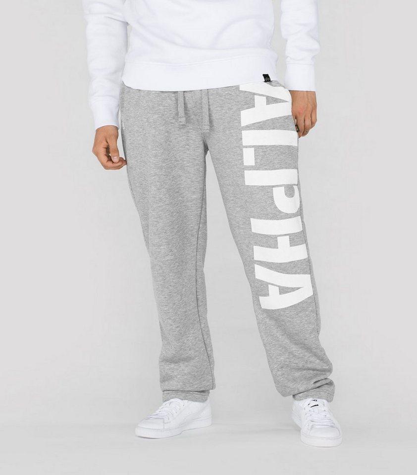 ALPHA INDUSTRIES Sweats »X-Fit Big Print Straight Pant« in grey heather