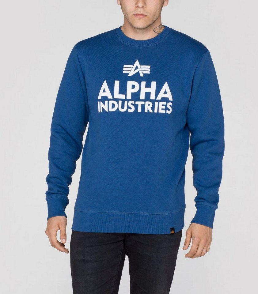 ALPHA INDUSTRIES Sweats »Foam Print Sweater« in ocean blue