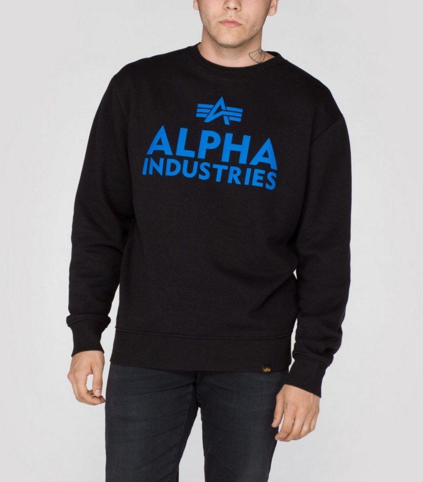 ALPHA INDUSTRIES Sweats »Foam Print Sweater« in black