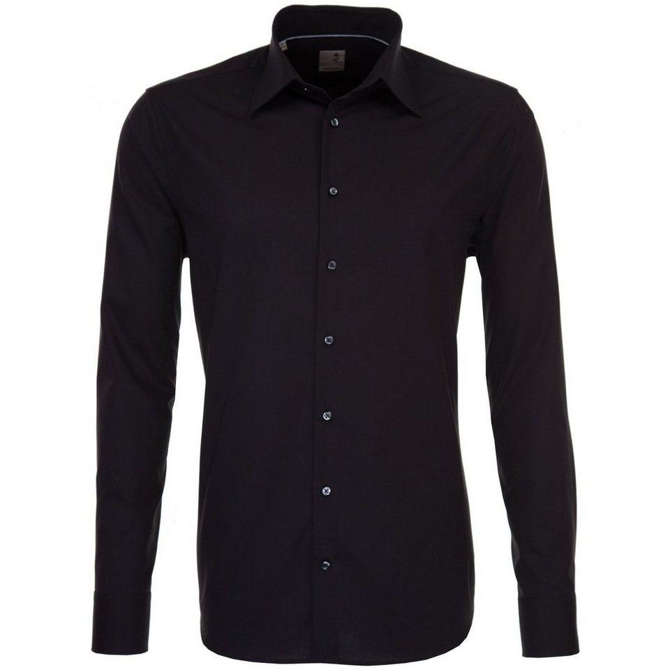 Seidensticker Businesshemd »Schwarze Rose« in schwarz-dunkellila