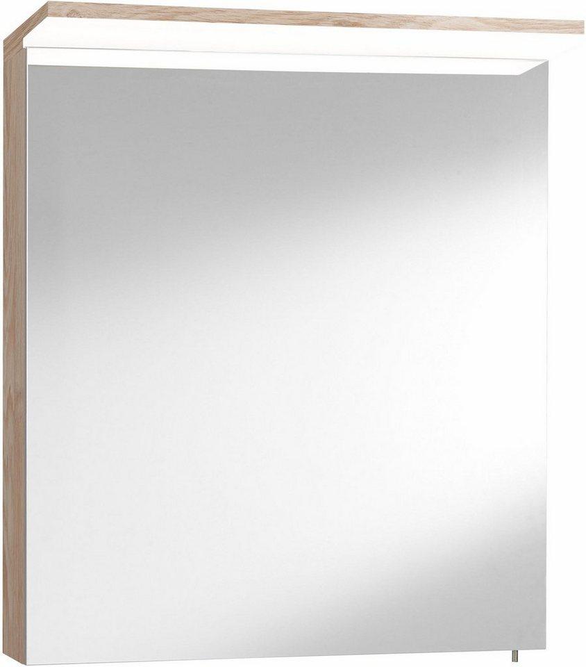 Optifit Spiegelschrank »Samoa« mit LED-Beleuchtung in eichefb. natur