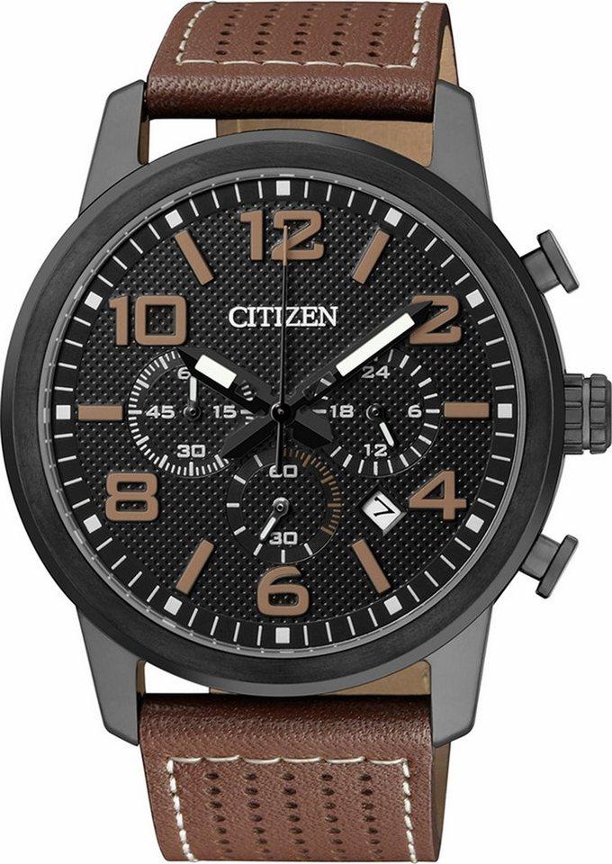 Citizen Chronograph »AN8055-06E« in braun