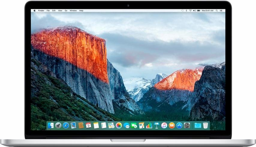 "Apple MacBook Pro 15,4"" 256 GB SSD mit Retina Display in Silber"