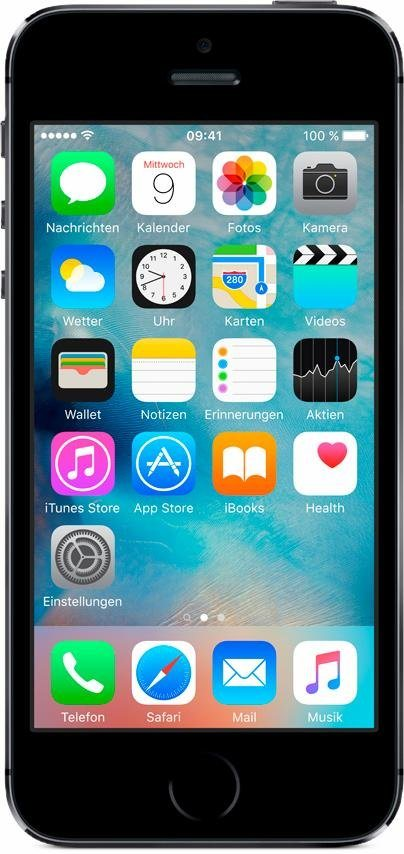"Apple iPhone 5s 4"" 16 GB in Space Grau"