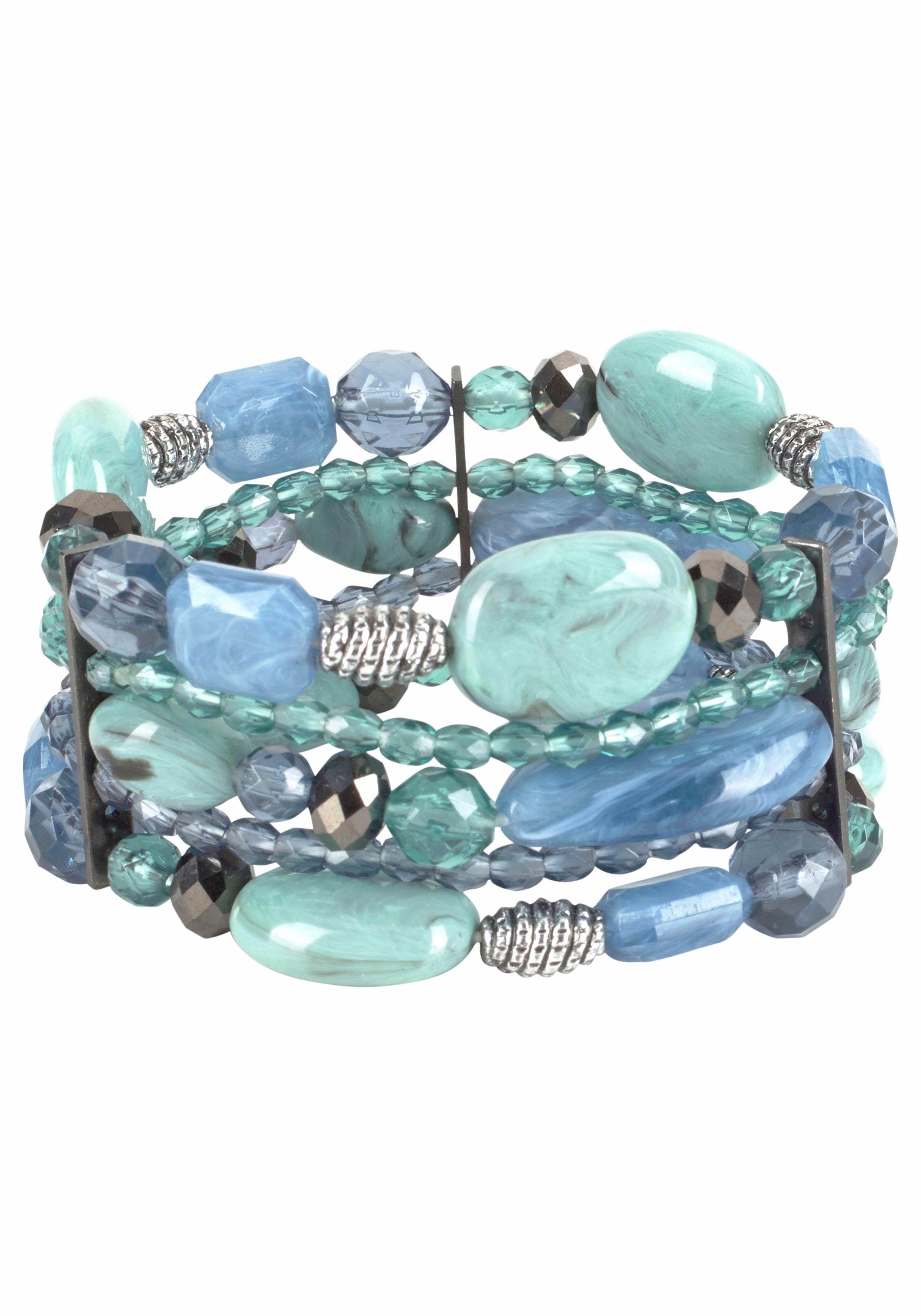 J. Jayz Armband mit dekorativen Schmucksteinen