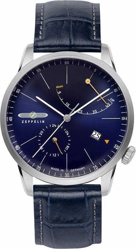 ZEPPELIN Automatikuhr »FLATLINE, 7366-3« Made in Germany in blau
