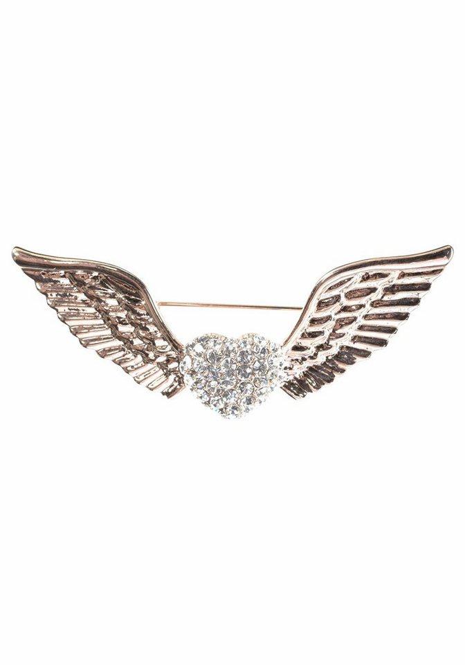 J. Jayz Brosche mit Flügeln in goldfarben