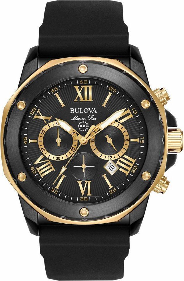 Bulova Chronograph »Marine Star, 98B278« in schwarz