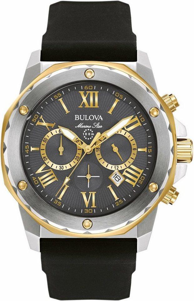 Bulova Chronograph »Marine Star, 98B277« dezentraler Sekundenzeiger in schwarz