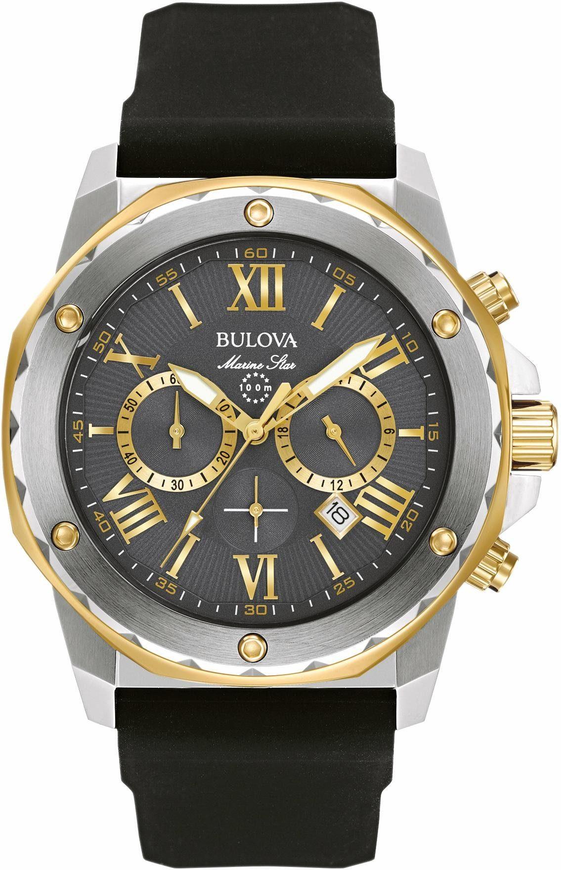 Bulova Chronograph »Marine Star, 98B277«, dezentraler Sekundenzeiger