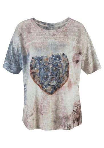 Tamaris T-Shirt, mit Lochstickerei