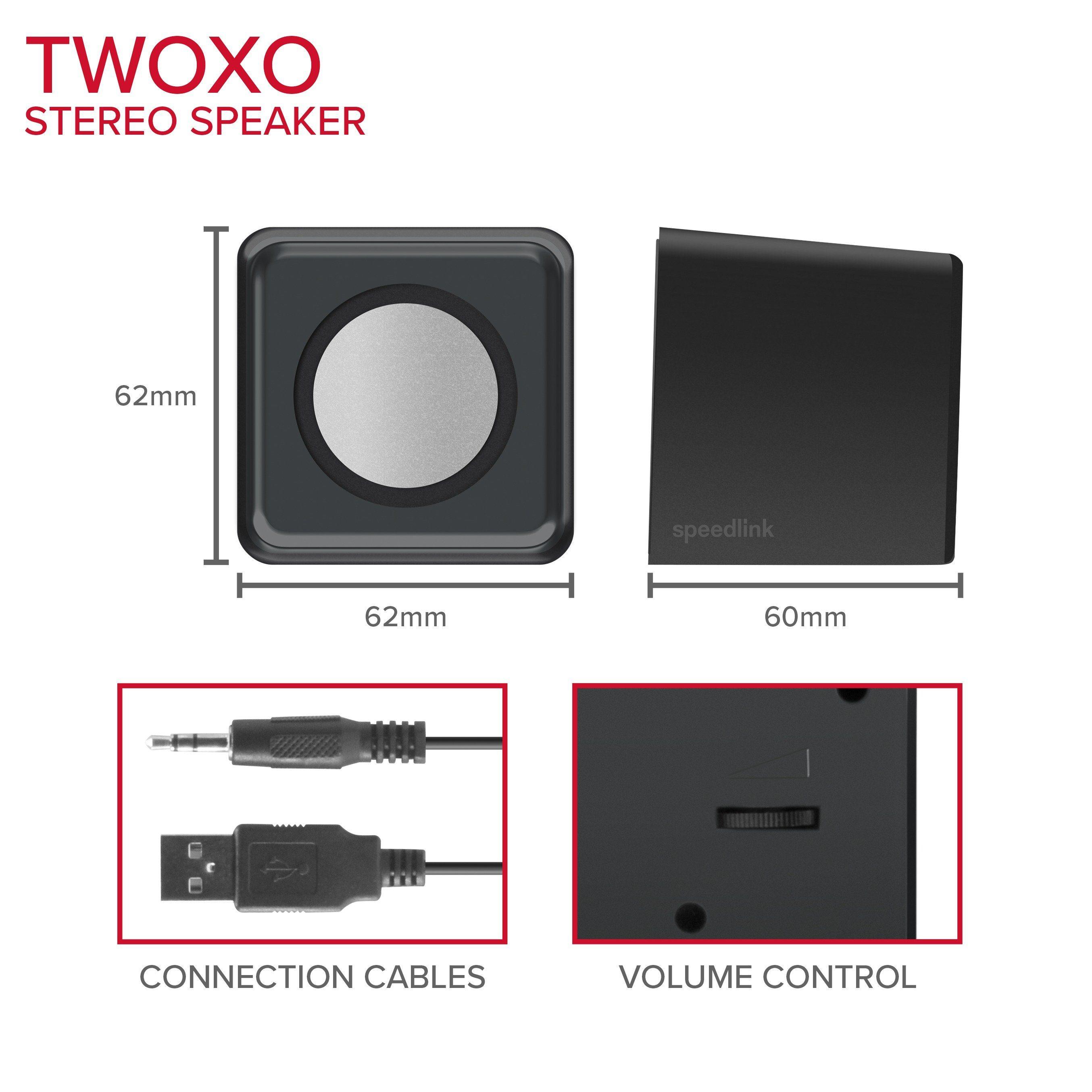 SPEEDLINK Stereo Lautsprecher »TWOXO Stereo Speakers schwarz«