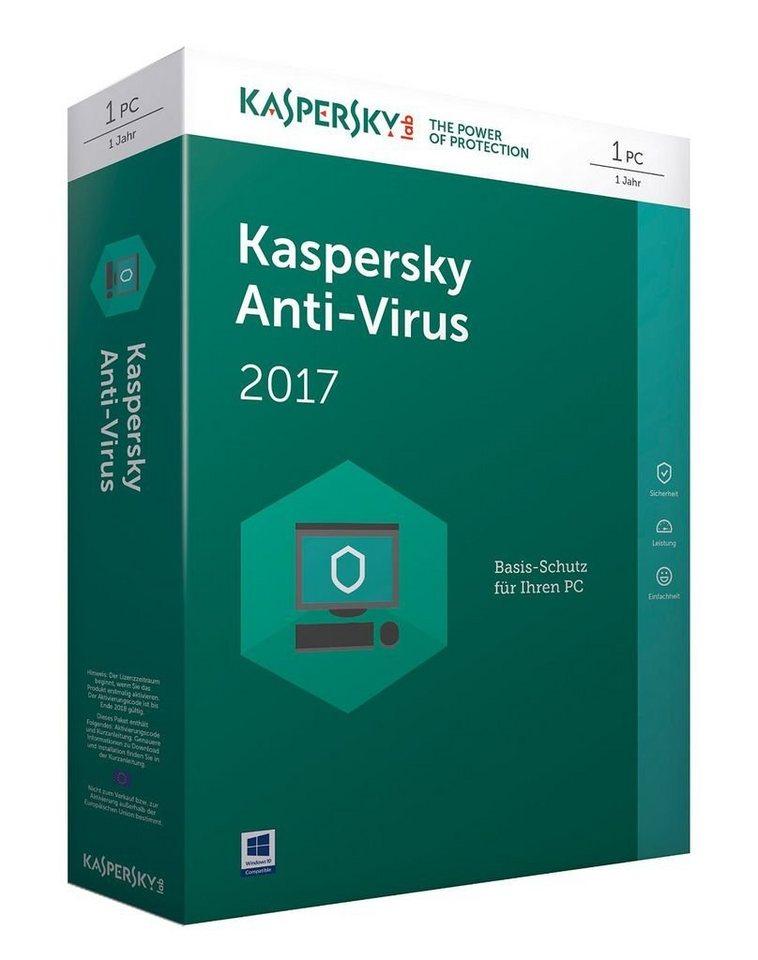 Kaspersky PC - Spiel »Kaspersky Anti-Virus 2017 Upgrade«