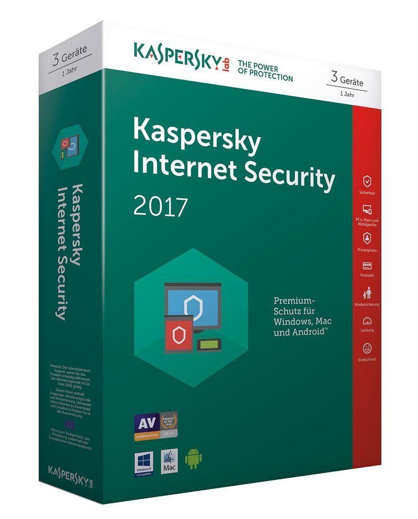 Kaspersky Software »Kaspersky Internet Security 2017 3 Lizenzen«
