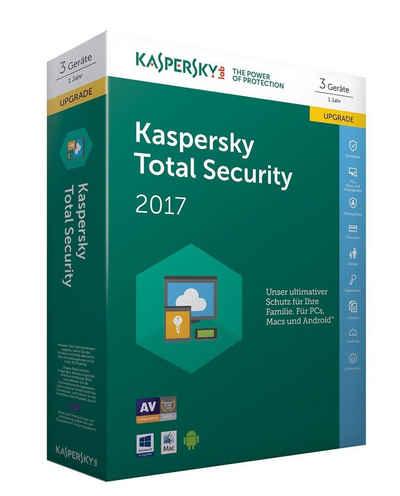 Kaspersky Software »Kaspersky Total Security Multi-Device 2017 Upgrade« Sale Angebote Felixsee