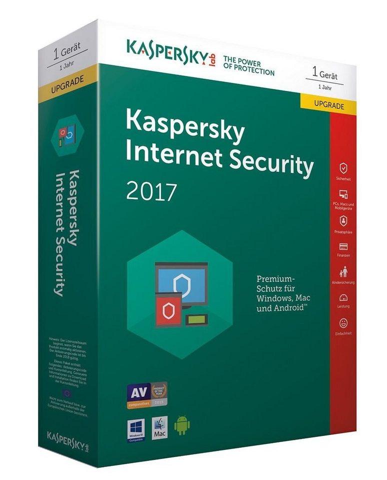 Kaspersky PC - Spiel »Kaspersky Internet Security 2017 Upgrade«