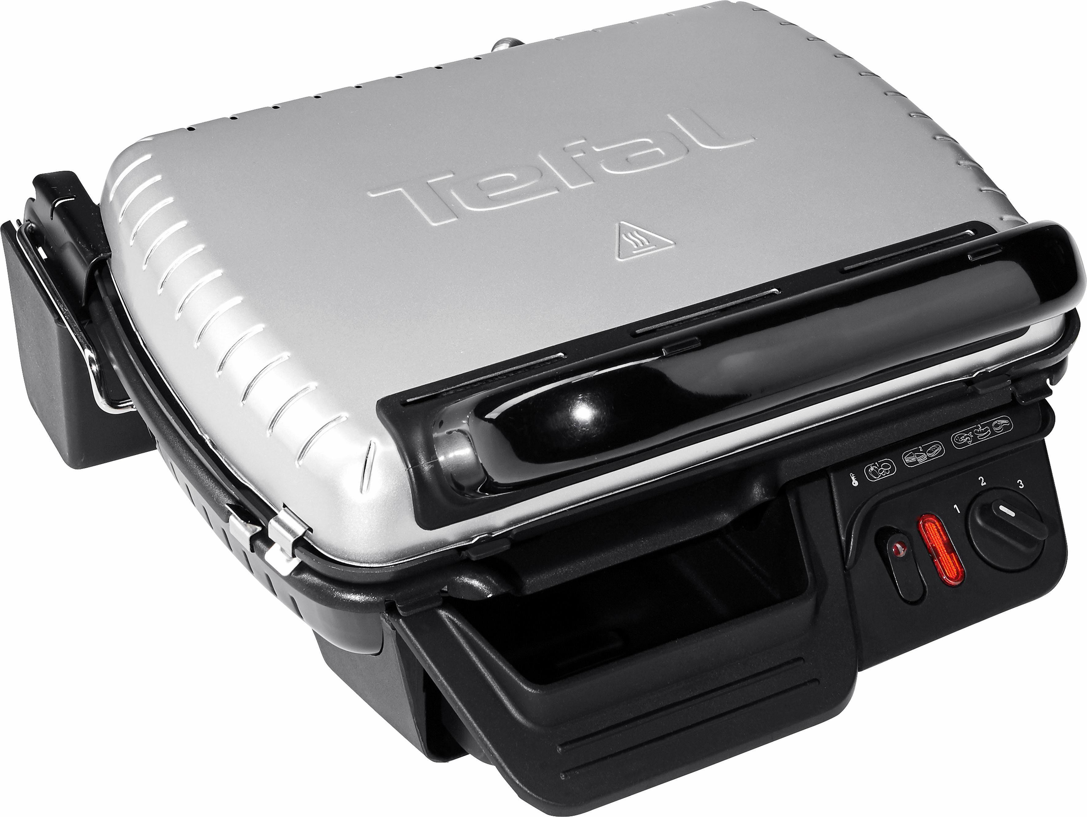 Tefal Kontaktgrill 2 in 1 GC3050, 2000 Watt, wärmeisoliertes Metall-Gehäuse