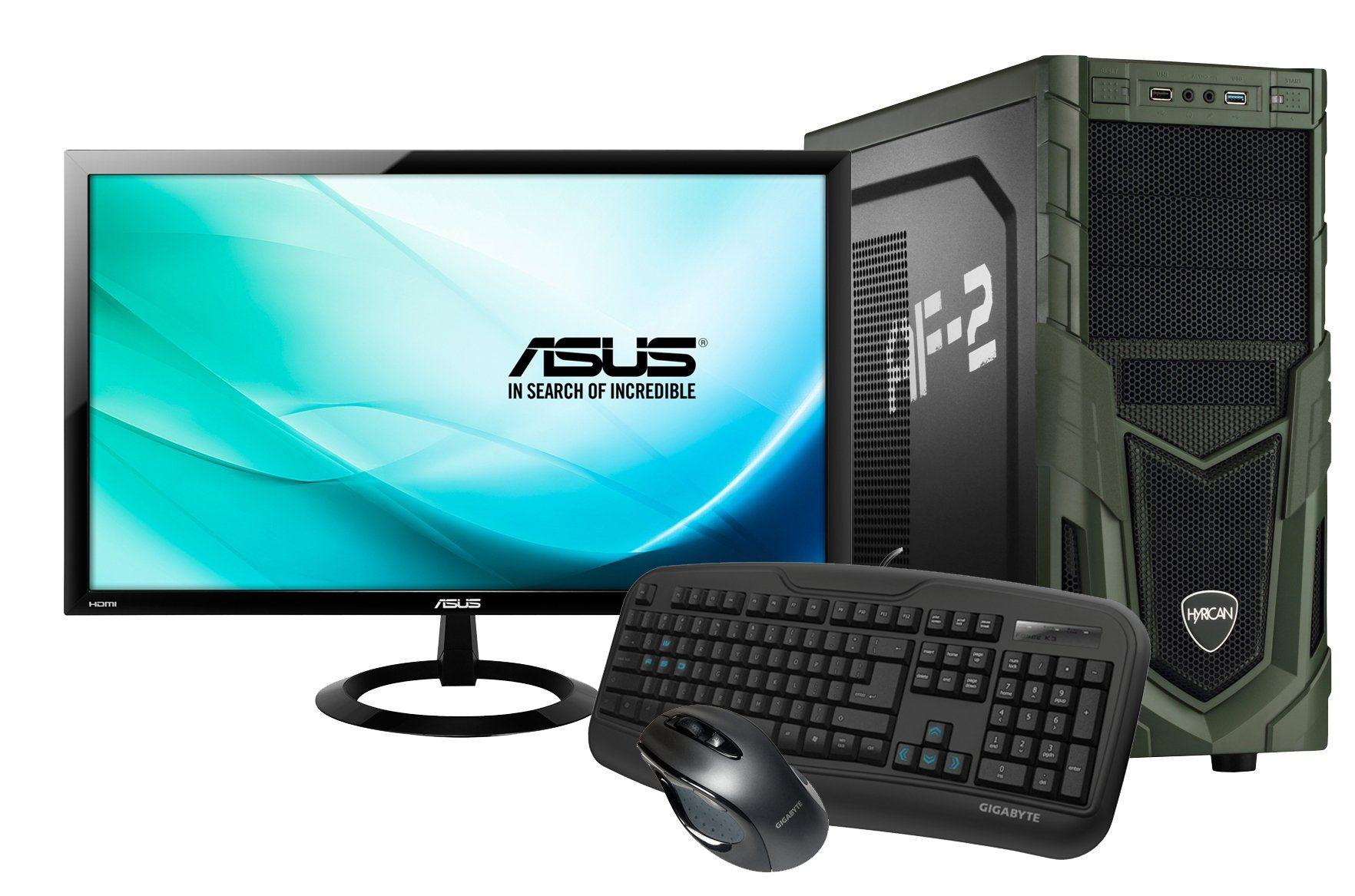 Hyrican Gaming PC Set Intel® i7-6700, GeForce® GTX 1070 + Monitor »Military Gaming SET01083«
