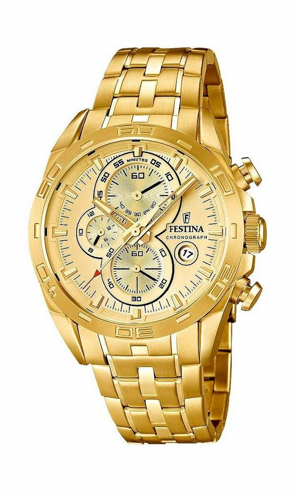 Festina Chronograph »F16656/2« in goldfarben
