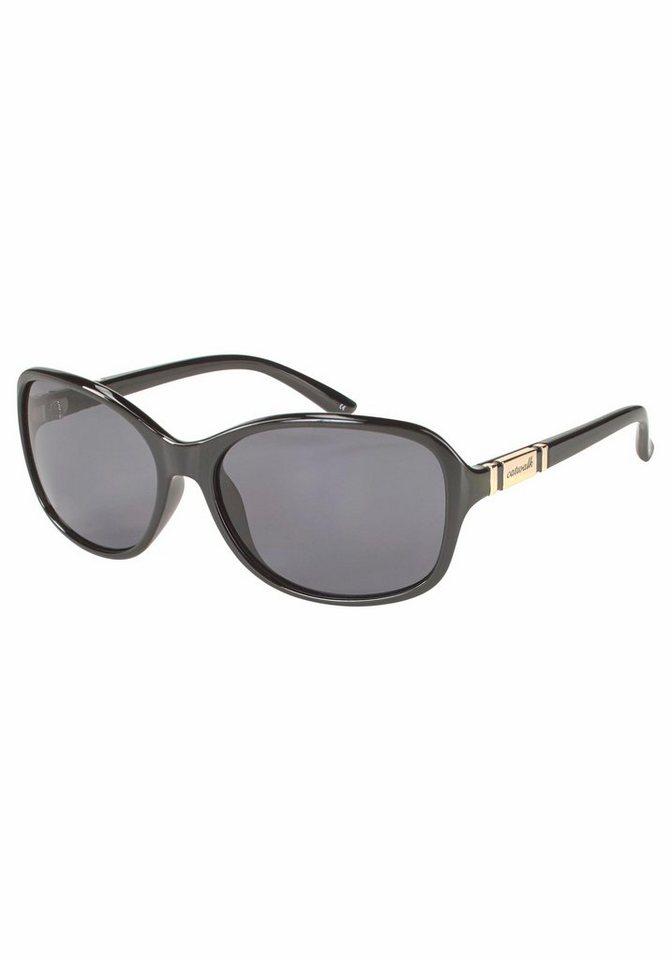 catwalk Eyewear Sonnenbrille mit Metallapplikation auf dem Bügel in schwarz