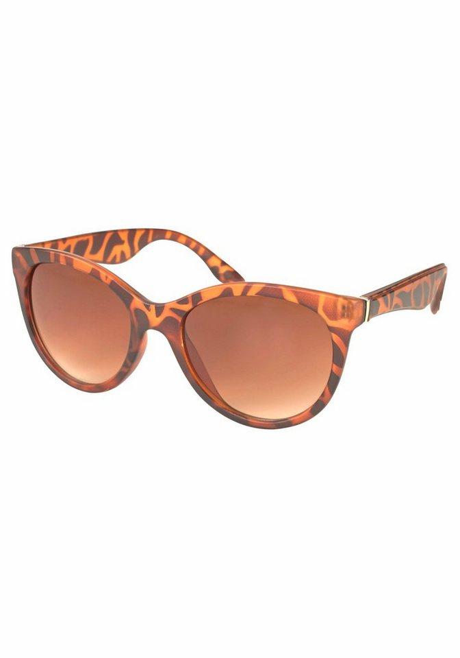 PRIMETTA Eyewear Sonnenbrille mit Leo-Muster in braun