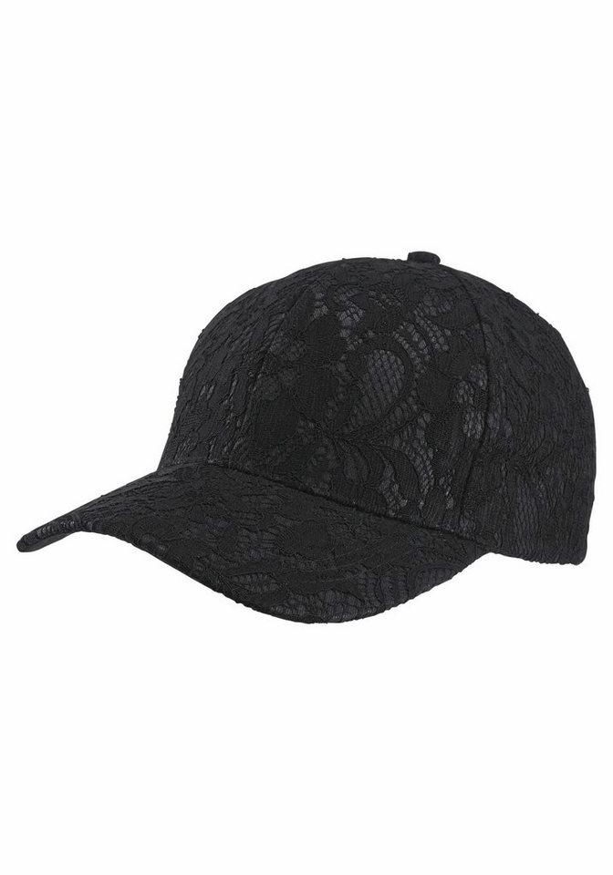J. Jayz Baseball Cap mit Spitze in schwarz